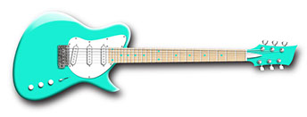 Surf green electric guitar