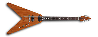 Flying V style electric guitar