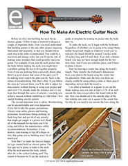 How To Make An Electric Guitar Neck